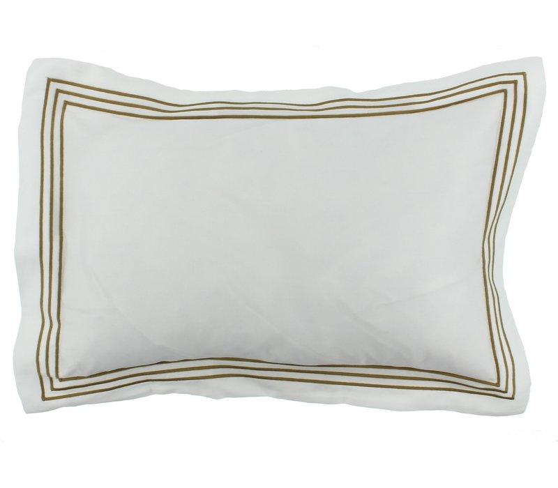 Bettbezug Kaia - Weiß / Olive