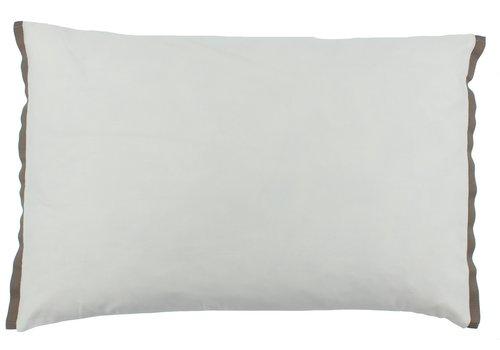 CLAUDI Bettbezug Manawa - White / Taupe
