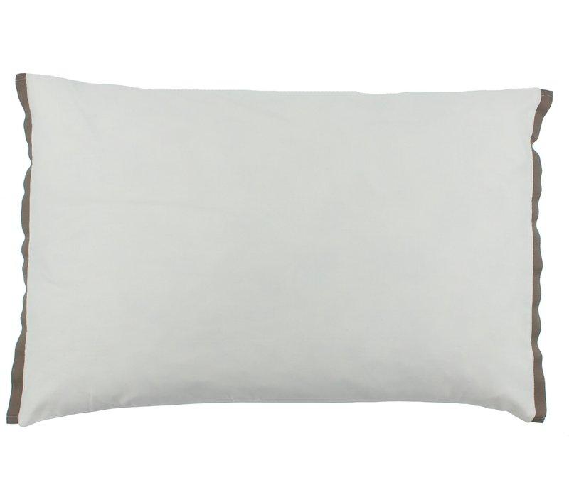 Dekbedovertrek Manawa - White / Taupe