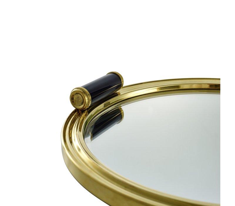 Tray 'Grimoldi' Gold 35 x 34 x H. 5,5 cm