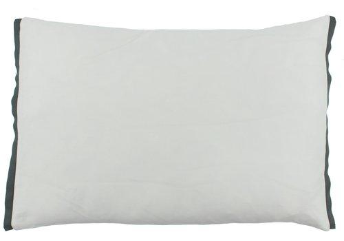 CLAUDI Bettbezug Manawa - White / Dark Taupe