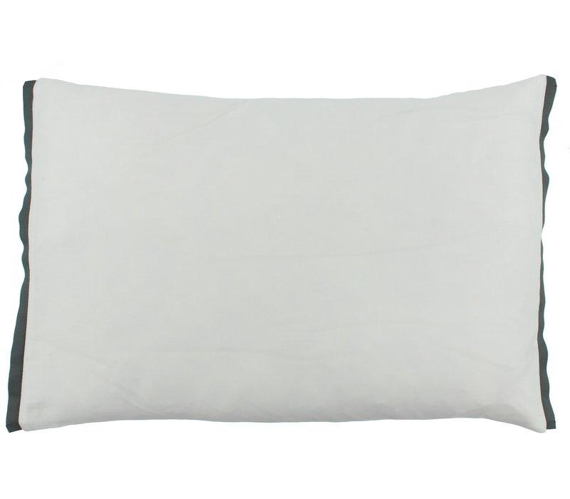 Dekbedovertrek Manawa - White / Dark Taupe
