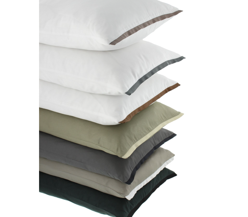 Duvet cover Manawa - White / Dark Taupe
