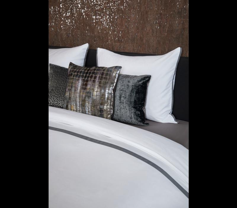 Bettbezug Manawa - White / Dark Taupe