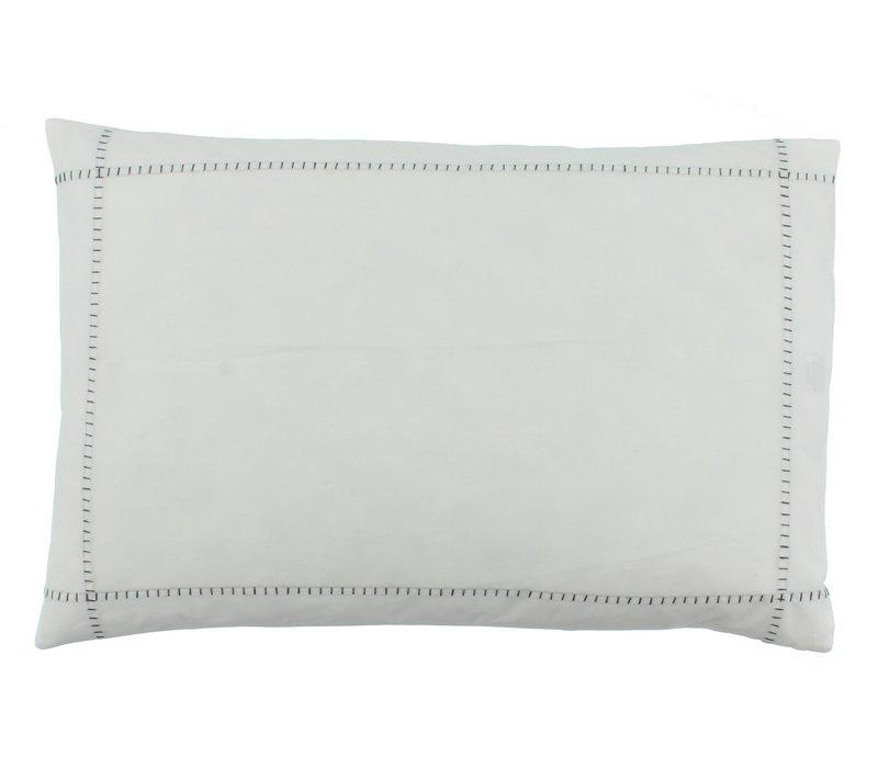 Bettbezug Ataahua - White / Dark Taupe