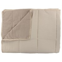 Bedspread Maia Stitched in the color Nude