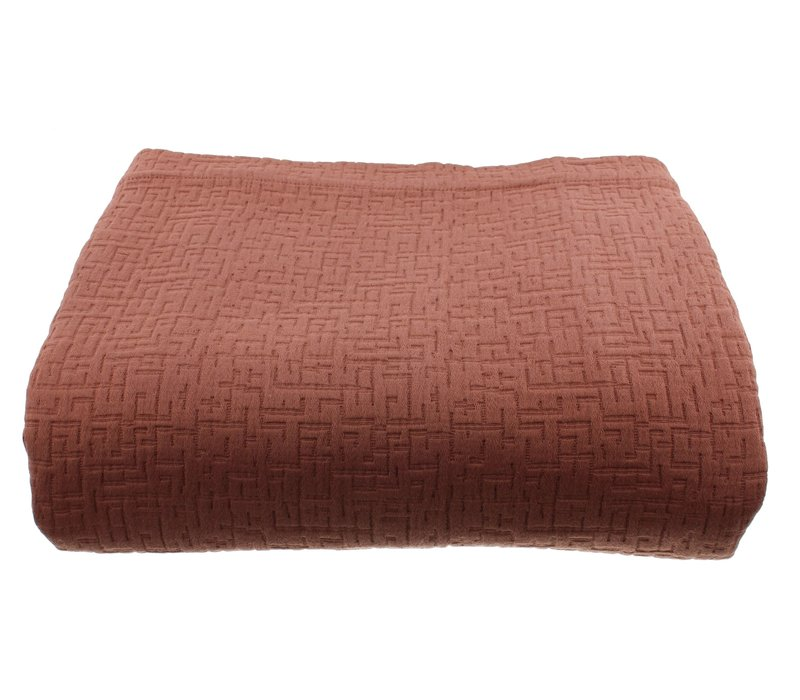 Bedspread Tui color Rust