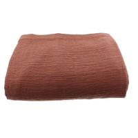 Tagesdecke Kara  in der Farbe Rust