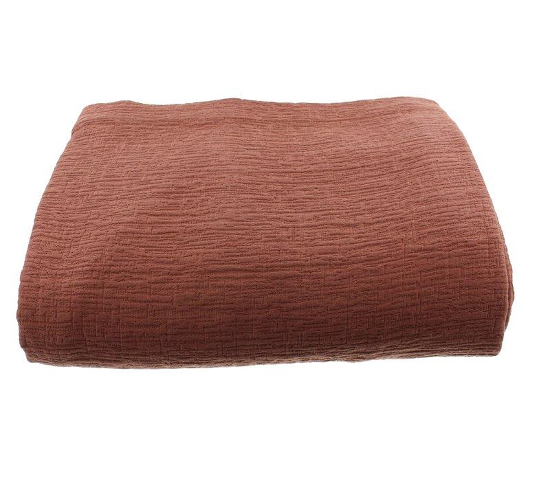 Bedsprei Kara in de kleur Rust