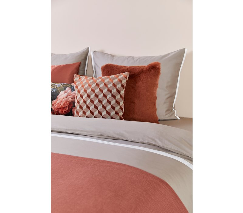 Bedspread Kara color Rust