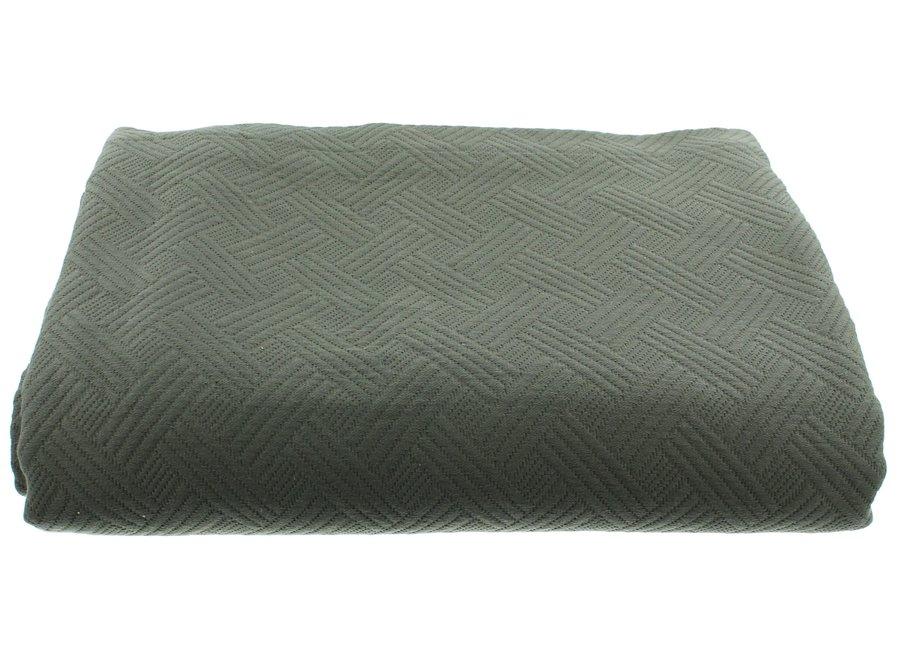 Bedsprei Ana in de kleur Grey/Mint