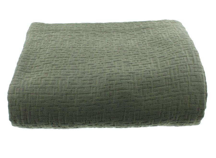 Bedsprei Tui in de kleur Grey/Mint
