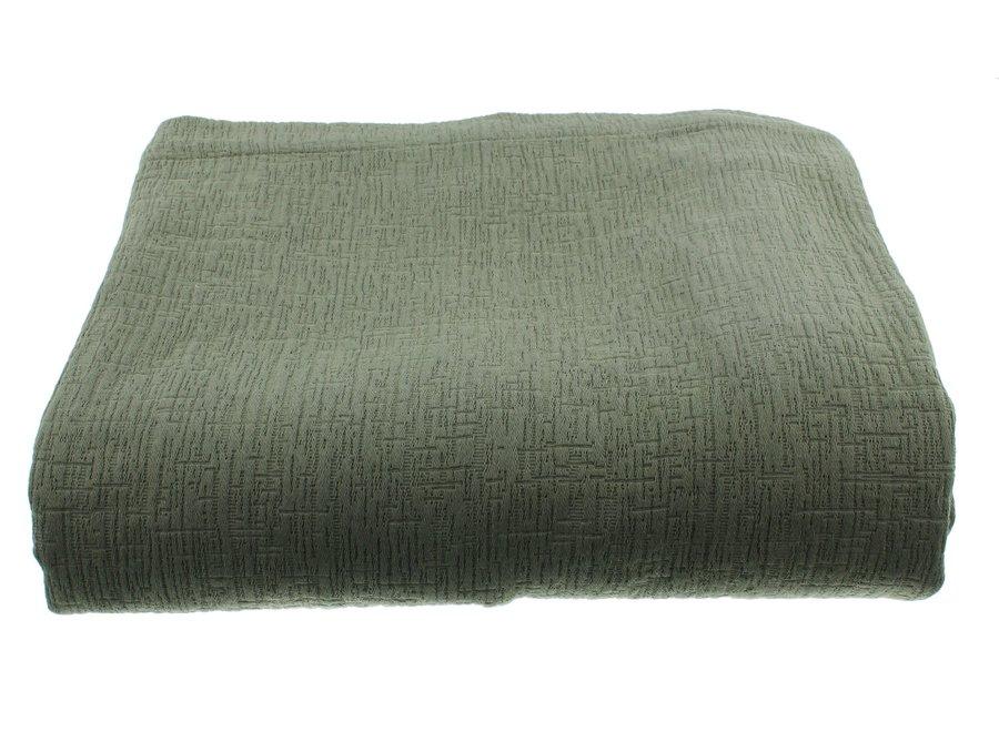 Bedsprei Kara in de kleur Grey/Mint