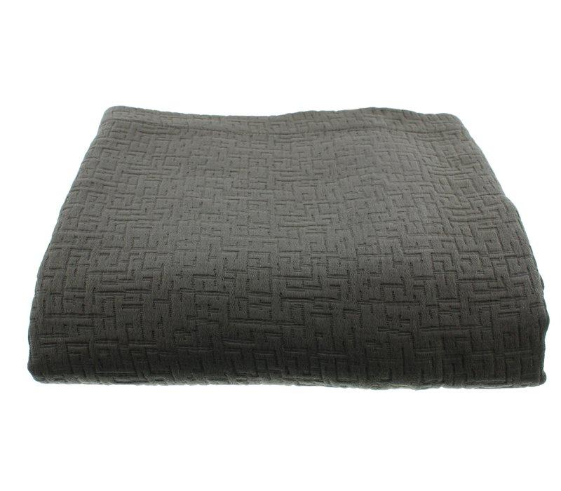 Bedspread Tui color Dark Taupe