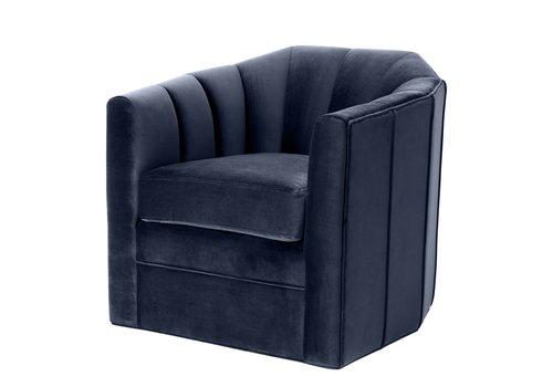 EICHHOLTZ Swivel armchair Delancey Blue