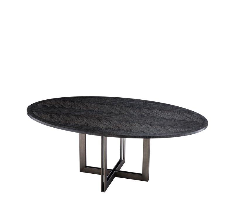 Eettafel Melchior ovaal in de kleur zwart
