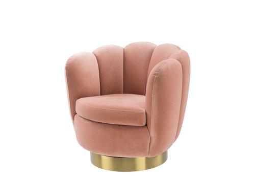 EICHHOLTZ Swivel armchair Mirage Nude Velvet