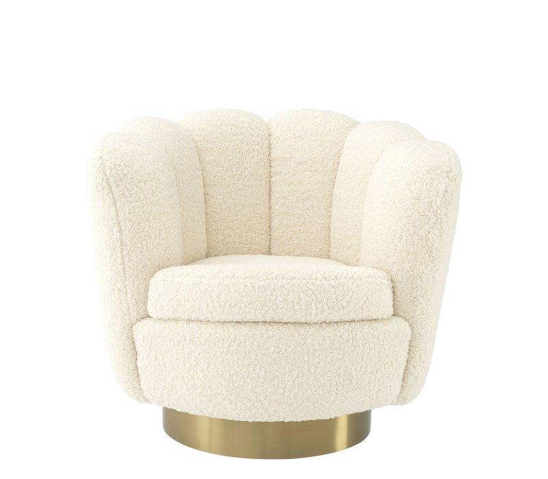 Swivel armchair 'Mirage' Faux Sherling