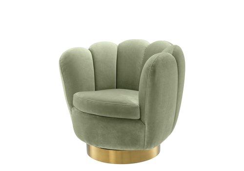 EICHHOLTZ Swivel armchair Mirage Pistache Green