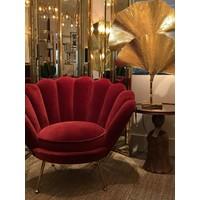 Chair 'Trapezium' Cameron Wine Red
