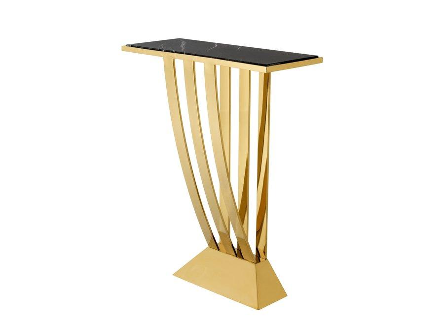 Design console tafel 'Beau Deco'  Gold 70 x 30 x H. 92,5 cm