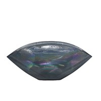 Blaue Glas bowl 'Luce' - L41 x W20 x H18 cm