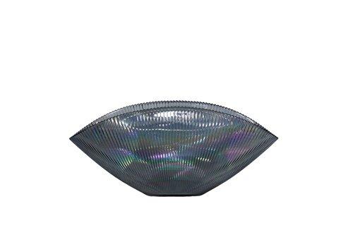 Dome Deco Blaue Glas bowl 'Luce' mit Metallglanz