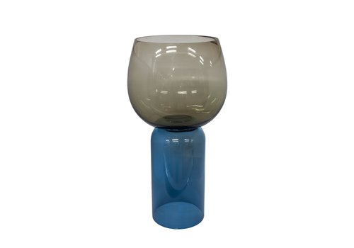 Dome Deco Glass tealight 'Blue' 2 colors