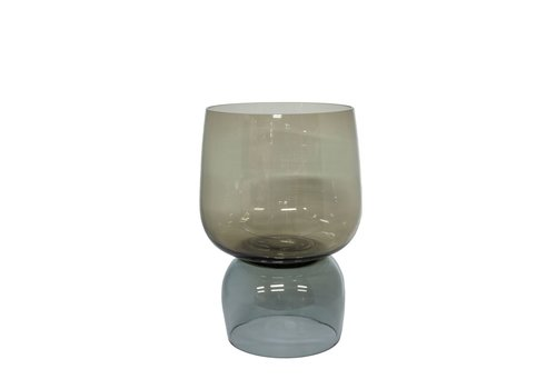 Dome Deco Glass tealight 'Grey' 2 colors