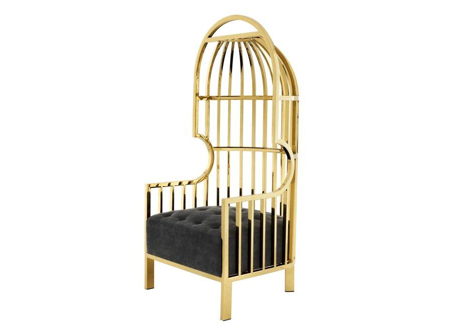 Chair 'Bora Bora'  Roestvrijstaal Gold