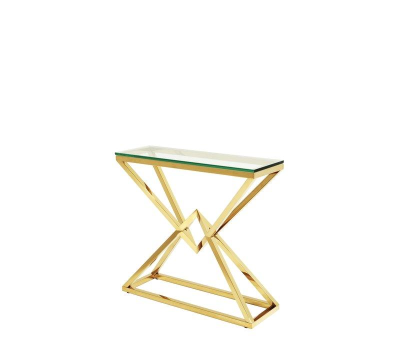 Konsolentisch Glas 'Connor'S Gold 90 x 30 x H. 82 cm