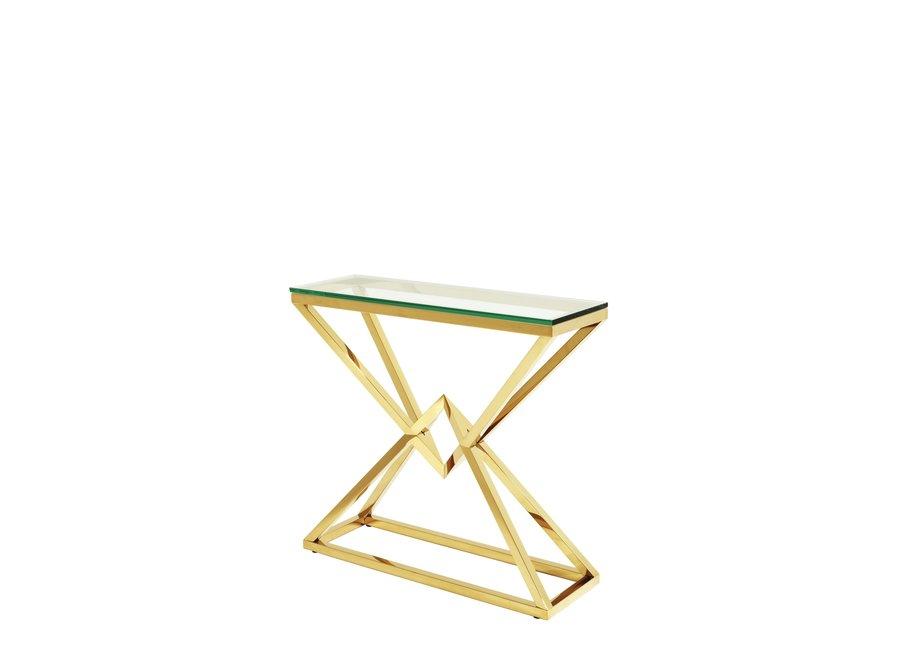 Console tafel 'Connor' S Gold 90 x 30 x H. 82 cm