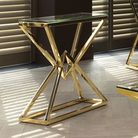 Console table 'Connor' S Gold 90 x 30 x H. 82 cm