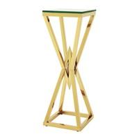 Design zuil 'Connor' Gold 100cm hoog