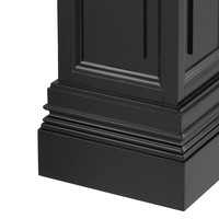 Zwarte zuil 'Salvatore' L 120cm