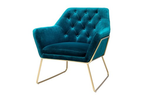 EICHHOLTZ Blue Velvet Armchair'Court'