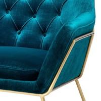 Fauteuil 'Court' Blue Velvet