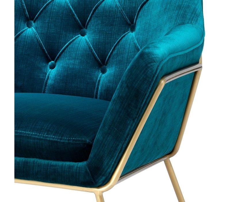 Sessel 'Court' Blue Velvet