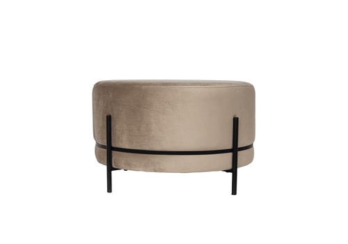 Dome Deco Round footstool 'Baba' Beige