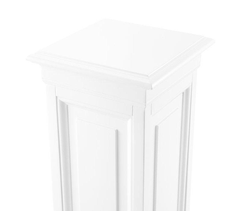 Salvatore 'M' white column 100 cm high