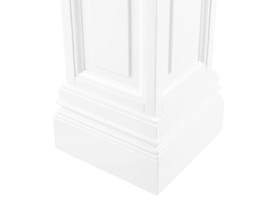 Witte zuil Salvatore 'L' 120cm hoog