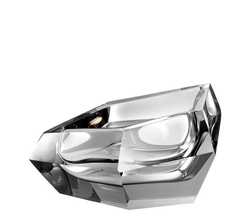 Schale 'Alma' aus grauem Kristallglas