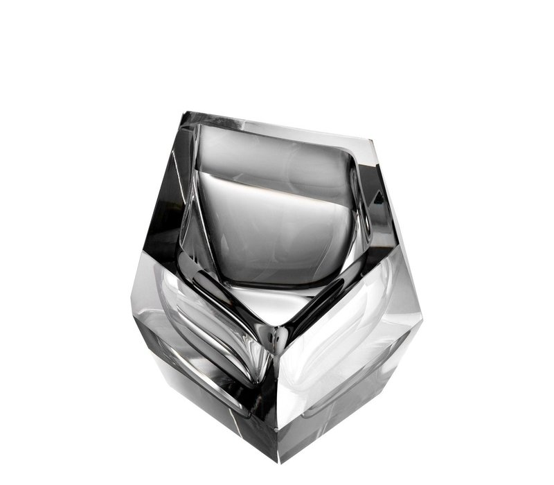 Bowl 'Alma' Gray Crystal Glass