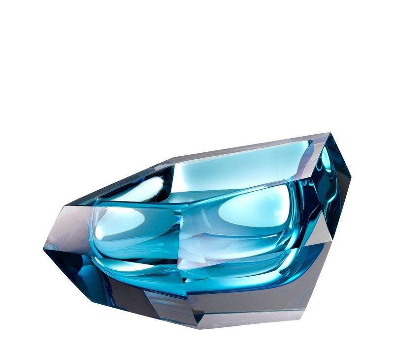 Bowl  'Alma' Blue Crystal Glass