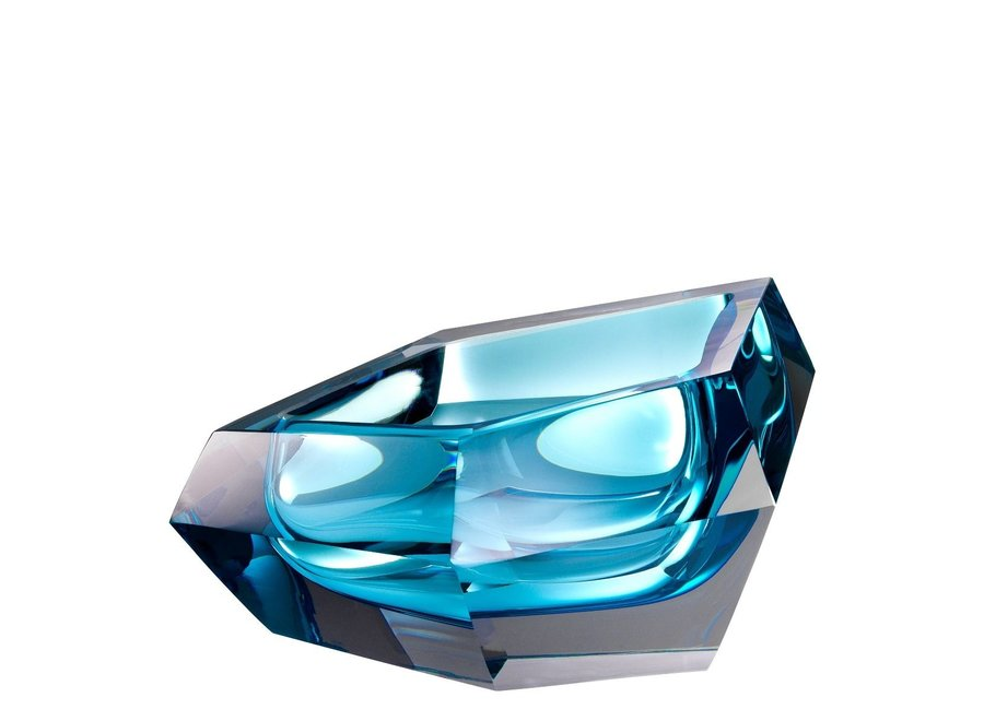 Bowl  'Alma' Blue Crystal Glass