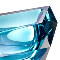 Schale 'Alma' aus blauem Kristallglas