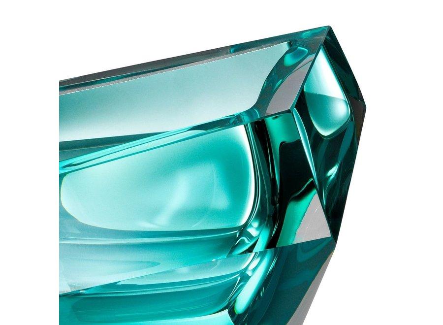 Bowl  'Alma' Turquoise Crystal Glass