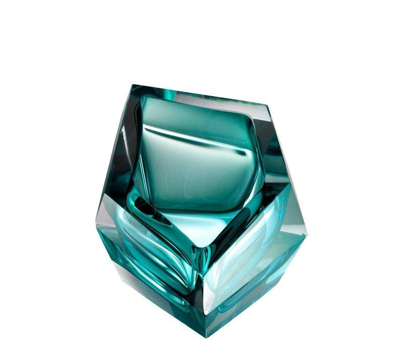 Schale 'Alma' aus Türkis Kristallglas