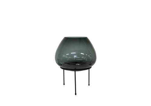 Dome Deco Große Vase auf schwarzem Standard - S