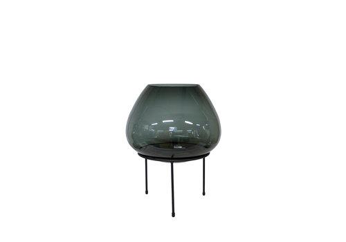 Dome Deco Grote vaas op zwarte standaard - S